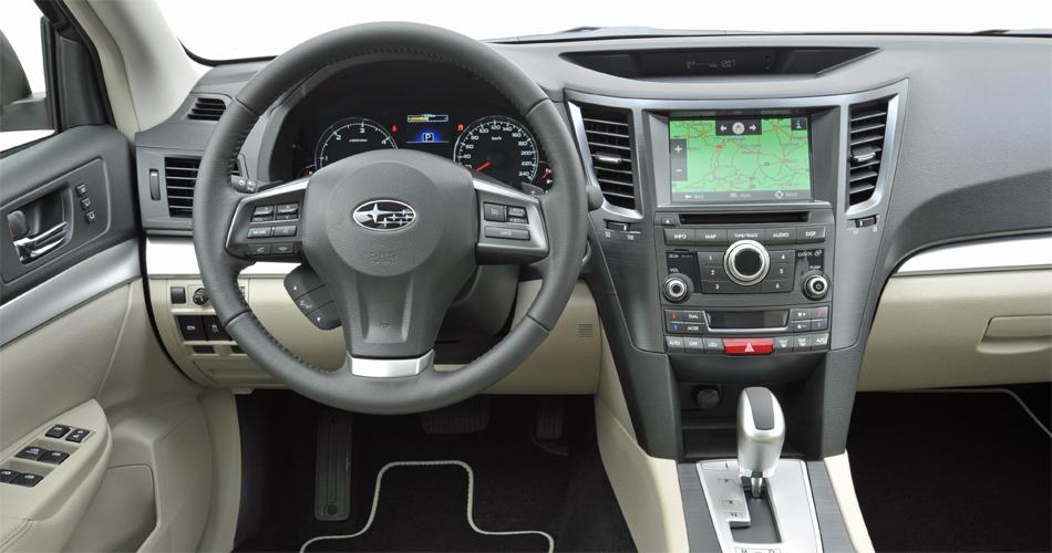 Der neue Jahrgang des Subaru Outback verfügt über eine modifizierte Mittelkonsole.
